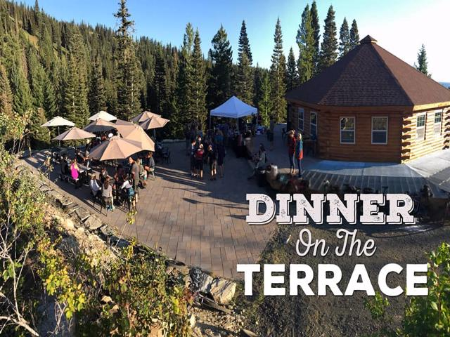 Bears Den Terrace dining option at Brundage Ski Resort both summer and winter options.