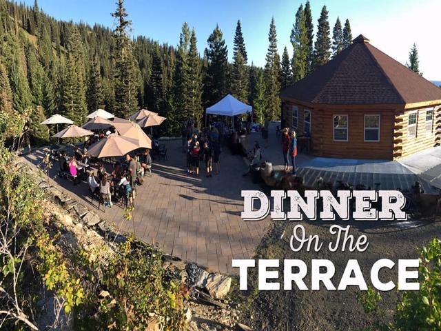 Bears Den Terrace dining option at Brundage Ski Resort both summer and winter options.