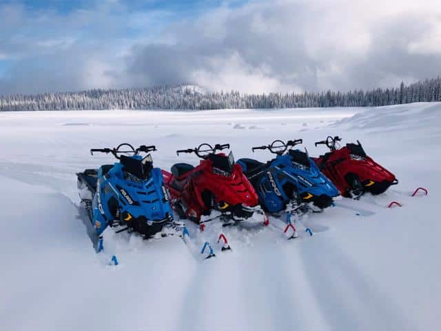Brundage Ski Resort Guided Snowmobile tours and rentals with a new Polaris Fleet.
