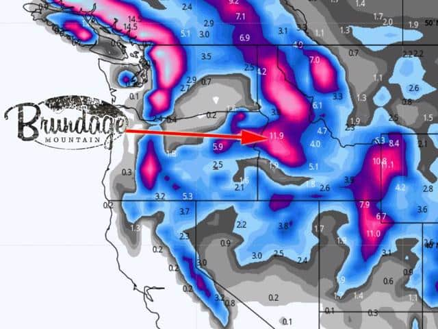 Brundage Mountain is in the path of the upcoming winter storm making opening day at Brundage Ski Resort a fluffy champagne powder day.