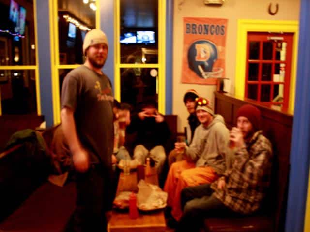 Happy hour in McCall idaho the perfect ski town for these ski bums.