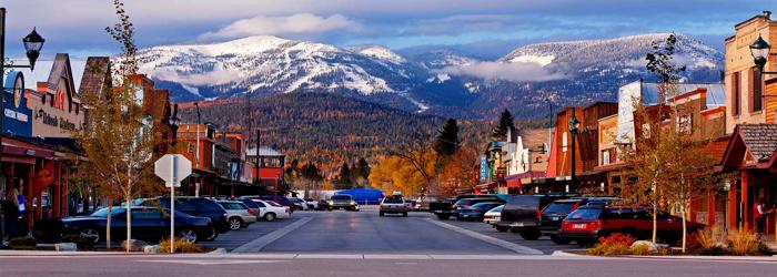 One of the greatest ski towns in North America is Whitefish Montana.
